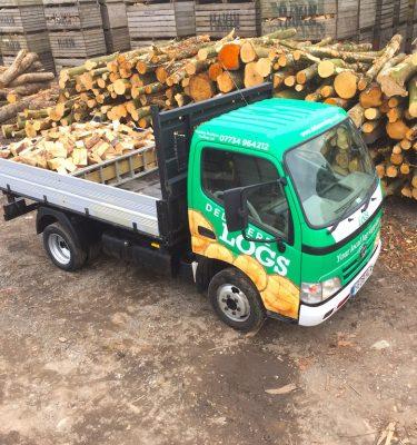 delamere logs delivery van