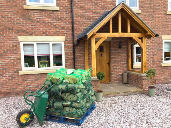 delamere logs stack of bags of logs