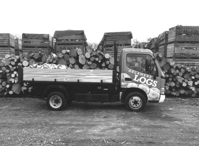 delamere logs log delivery van